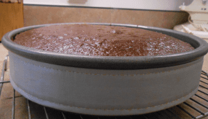 flat top chocolate layer cake