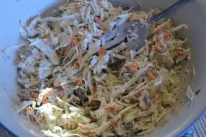 Creamy Coleslaw Dressing – with a little kick