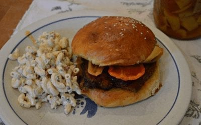 BBQ Brisket and Macaroni Salad