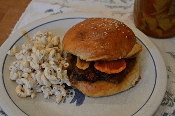 BBQ Brisket and Macaroni Salad