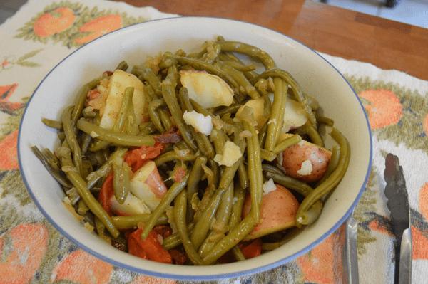 grannie geek, country green beans