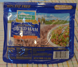 grannie geek, farmland diced ham