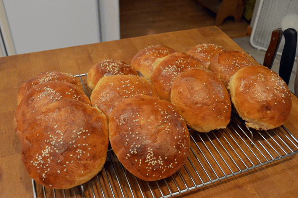grannie geek, outstanding homemade hamburger buns