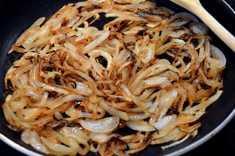 grannie geek, caramelized onions