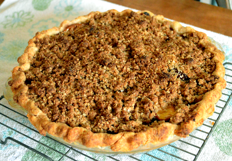 At Mimi's Table: Peach Crumble Pie