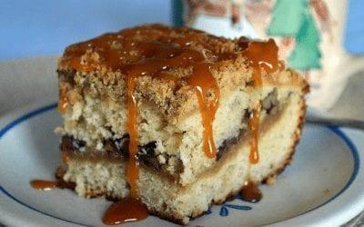 Banana Pecan Caramel Crumb Cake