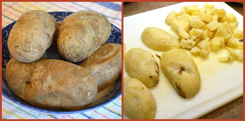 grannie geek, potato soup cubes potatoes