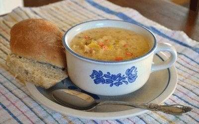 Cheesy Leek Potato Soup