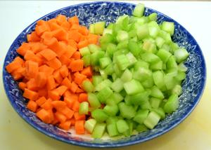 grannie geek, potato soup carrots and celery