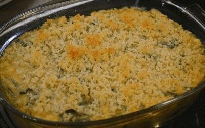 Quinoa Spinach Arugula & Cheese Casserole