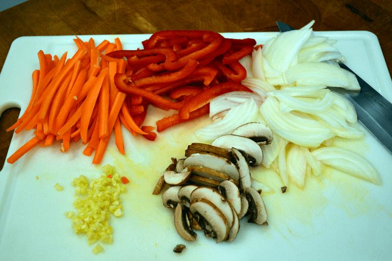 grannie geek, vegetable chow mein veggies