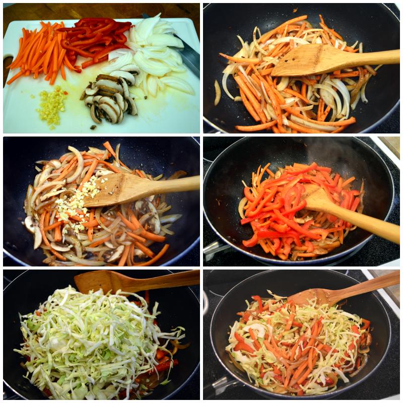 grannie geek, vegetable chow mein stir fry veggies
