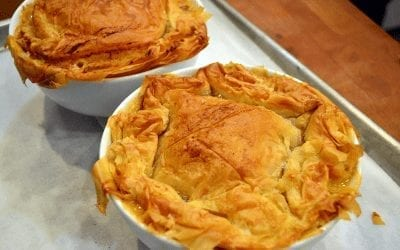 Chicken Pot Pie with Phyllo Crust