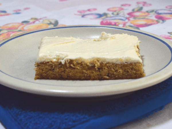 grannie geek, yummy banana sheet cake