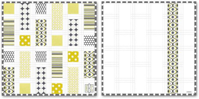 grannie geek Sew4Home citron baby quilt design layout