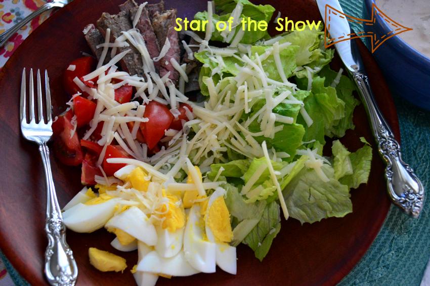grannie geek healthy thousand island dressing & chef salad star of the show