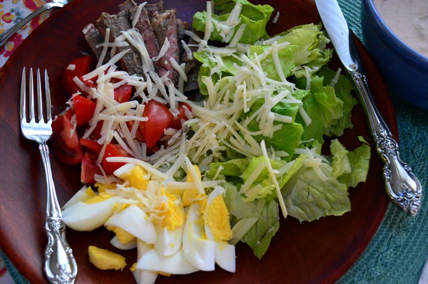 grannie geek healthy thousand island dressing & chef salad