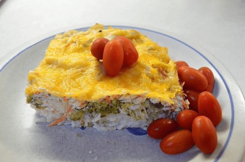 Healthier Chicken Broccoli Cheese Casserole