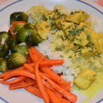 Simple Chicken Curry with Sauteed Veggies