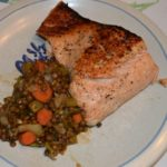 Delicious AND Nutritious – Salmon and French Lentils