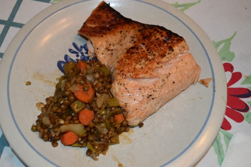 at mimi's table salmon and lentils