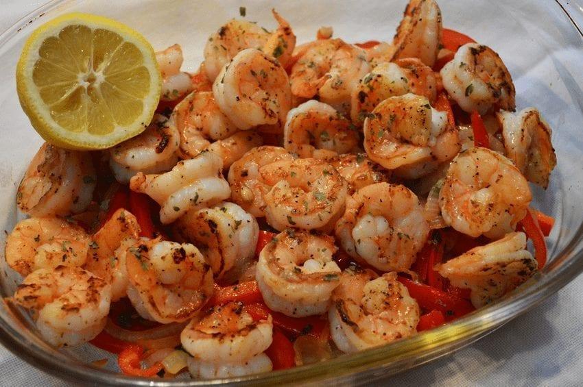 Mimi's Fast & Easy Shrimp Fajitas