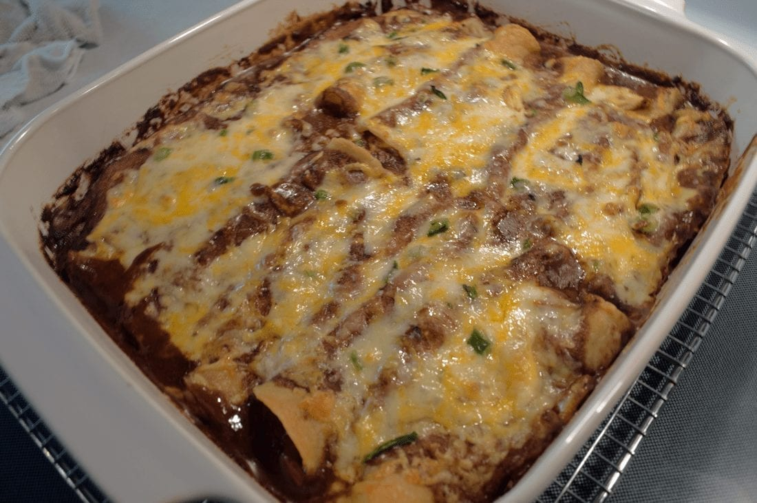 Cheese Enchiladas in Mole