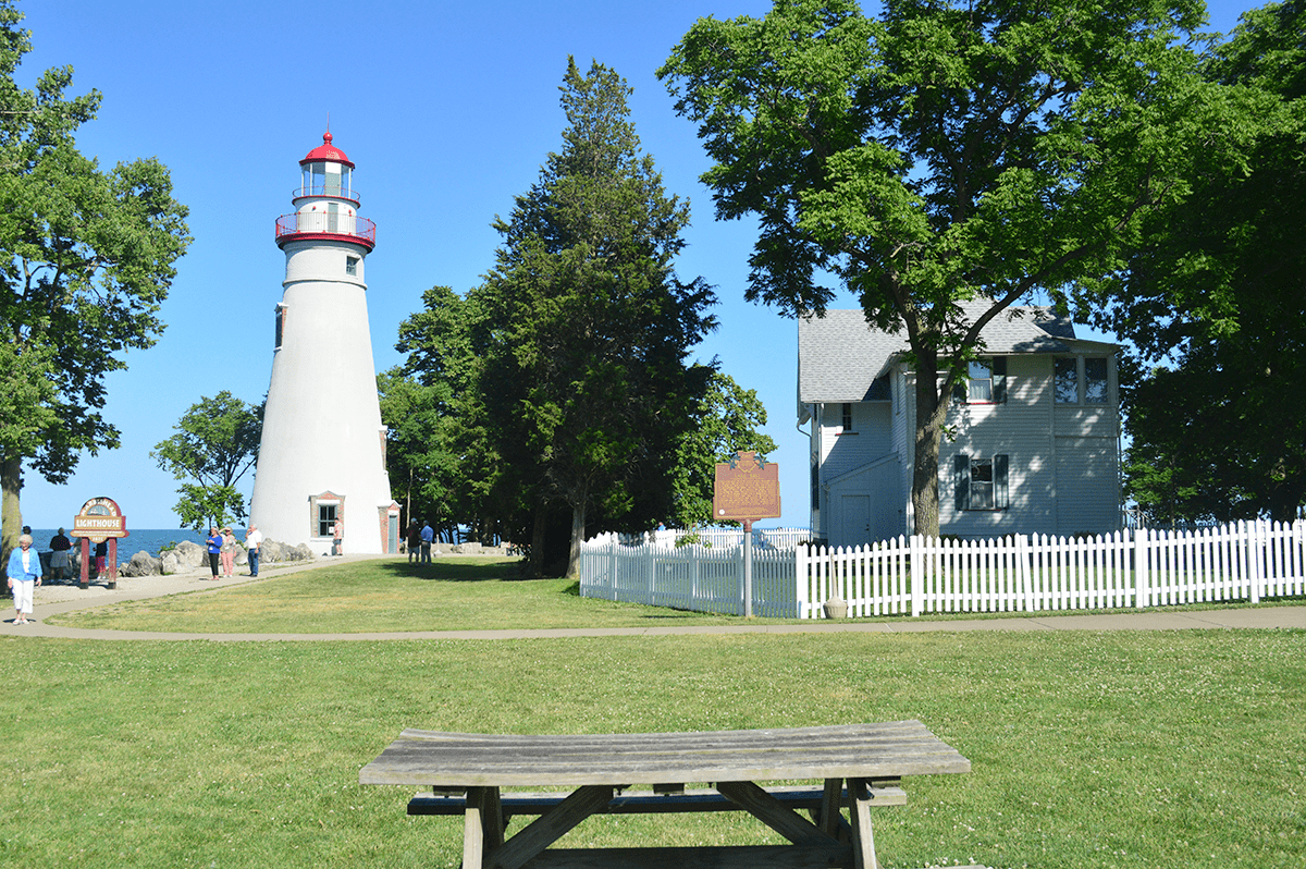 Lakeside Ohio and the Marblehead Lighthouse