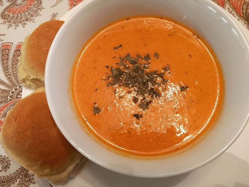 Homemade Creamy Fresh Tomato Soup
