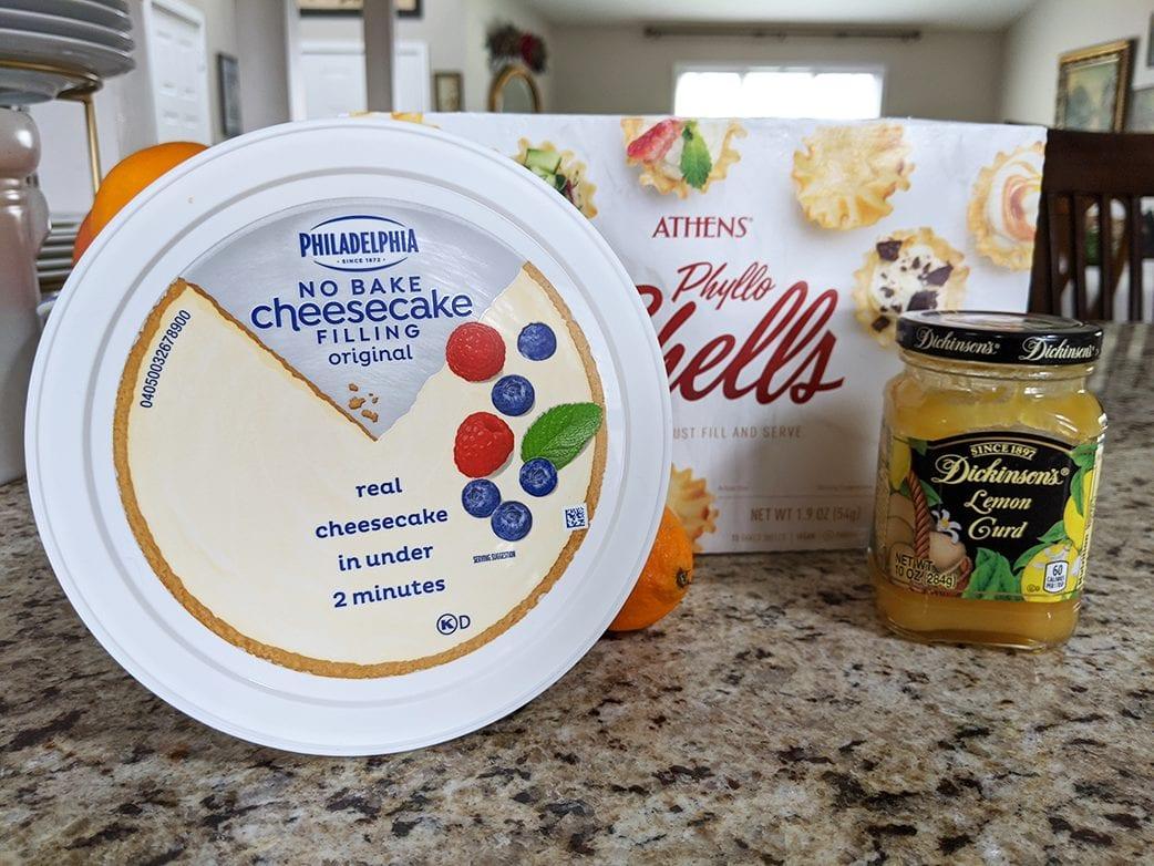 at mimi's table mimi's mini lemon cheesecakes phyllo 2