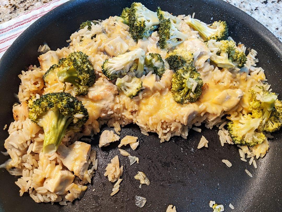 at mimi's table mimi's chicken rice broccoli cheesy casserole 2