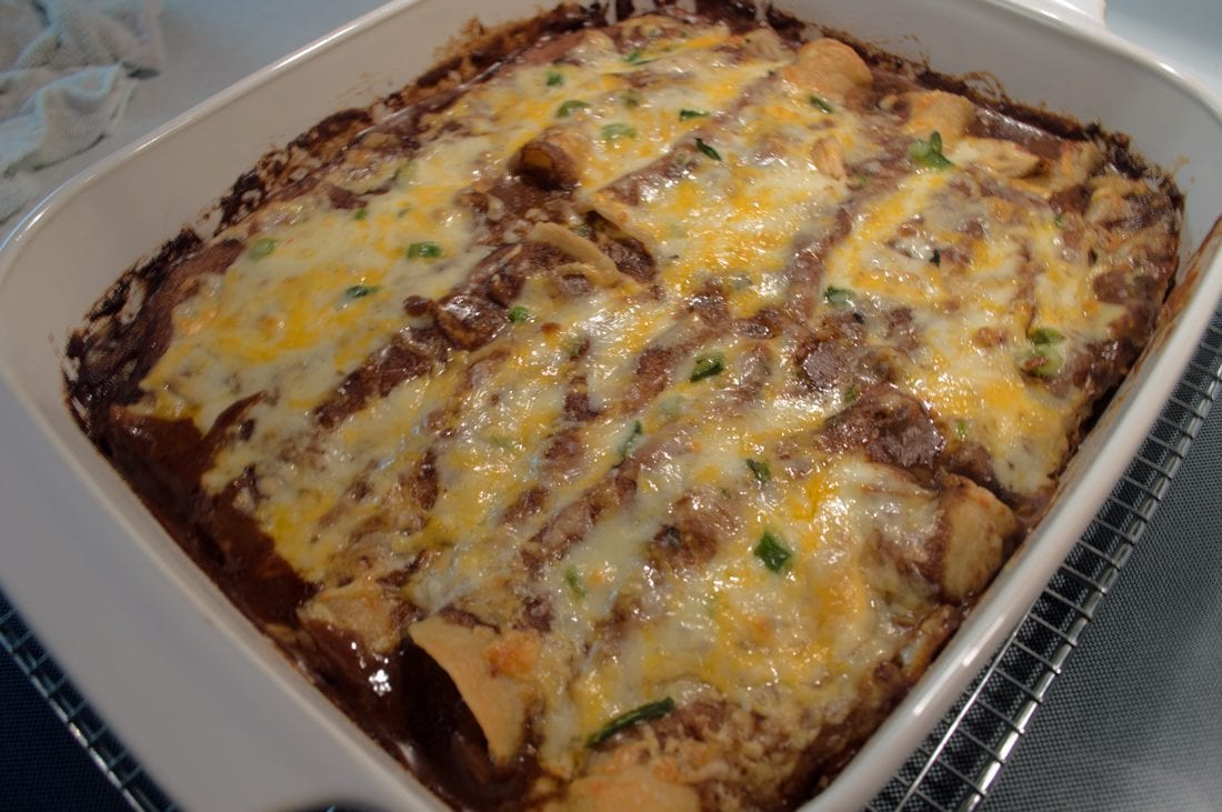 at mimi's table cheese enchiladas in mole jeff mauro tasty tryouts