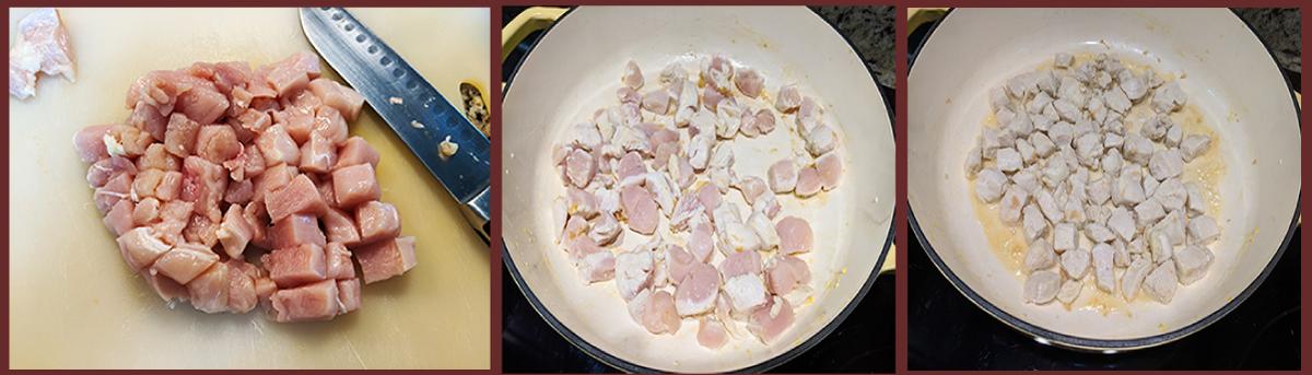 at mimi's tab;e one pot pad thai chicken trio