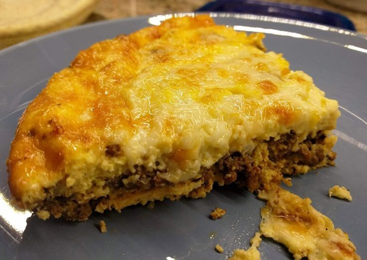 Quick and Easy, Crustless Taco Pie - Gluten Free & Low Carb!